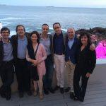 El Dr. Antonio Díaz Gutiérrez con Manuel Sánchez Nebreda (ex presidente SECPRE), Ana Jiménez de la Fundación SECPRE y otros colegas.