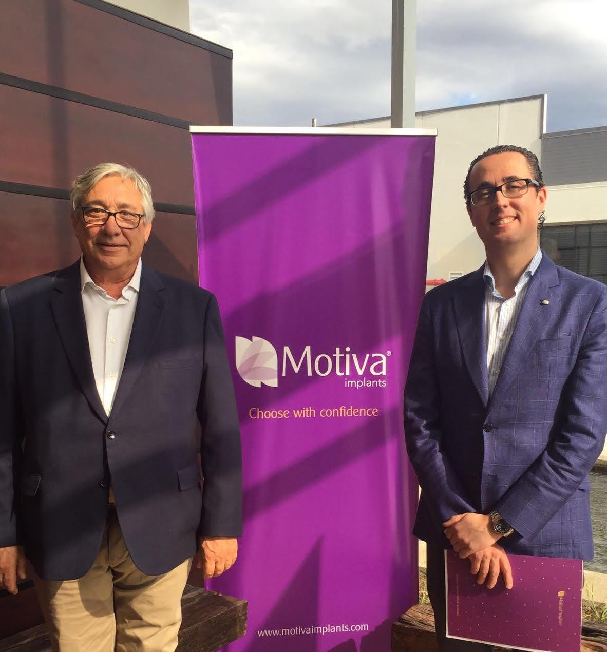 Jesús Fernández, Director de MOTIVA España y el Dr. Antonio Díaz Gutiérrez, cirujano plástico en Madrid.